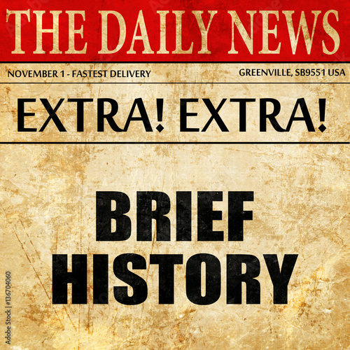 brief history, article text in newspaper