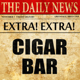 cigar bar, article text in newspaper