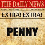 penny, article text in newspaper
