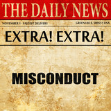 misconduct, article text in newspaper