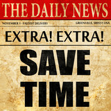 save time, article text in newspaper