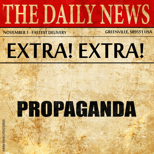 propaganda article Looking for propaganda find out information about propaganda systematic manipulation of public opinion, generally by the use of symbols such as flags, monuments, oratory, and publications.