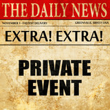 private event, article text in newspaper
