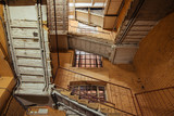 Old staircase in the factory