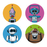 collection robots technology smart vector illustration eps 10