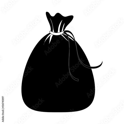 santa claus bag icon vector illustration design