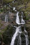 Transfagarsan spring waterfall