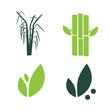 Sugar cane flat icons set illustration vector. Sugar cane vector