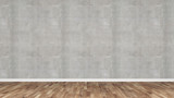 Beton wand mit Holzfussboden - 136791682