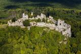 Gymes, slovakia mediaval castle, ruins of Gymes castle near Nitra - 136791855