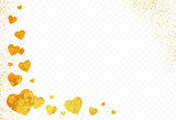 Gold glitter transparent background, golden dust with transparency vector illustration - 136793483