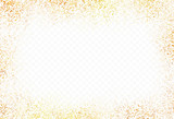 Gold glitter transparent background, golden dust with transparency vector illustration - 136793836