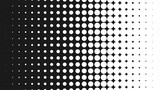 Halftone pattern background, round spot shapes, vintage or retro graphic with place for your text. Halftone digital effect. - 136800440