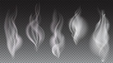 White smoke waves on transparent background vector illustration - 136800496