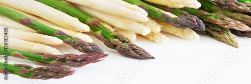 Spoed canvasdoek 2cm dik Verse groenten Spargel und Kartoffeln