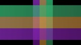 Colorful animated strips in green, orange and purple. Video background with rolled paper effect