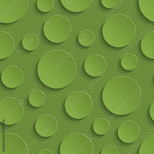 Tapeta Greenery Circles Seamless Pattern.