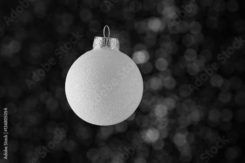 witte kerstbal Plakát