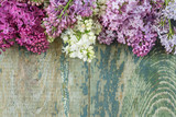 Lush multicolored bunches of lilac