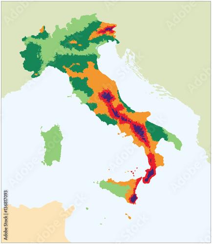 Mappa sismica italia buy photos ap images detailview for Mappa sismica italia