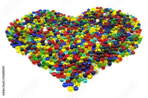 Leinwandbild Motiv Herz aus Glassteinen