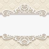 Cutout paper vignette with lace border