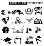 Set of agricultural engineering icon design for agriculture