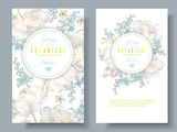 Spring flower banners - 136833626