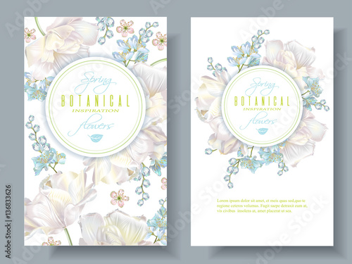 Spring flower banners