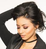 Beautiful models face, exotic latina