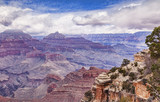 A view of the Visnu Temple, Grand Canyon National Park, Arizona, USA