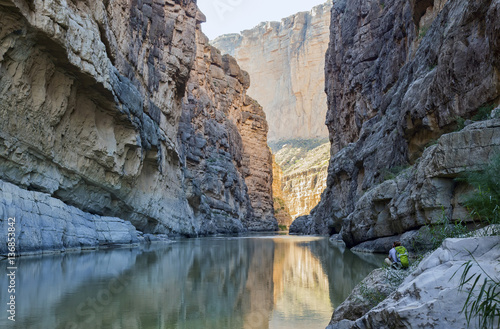 The Rio Grande River runs through Santa Elena Canyon