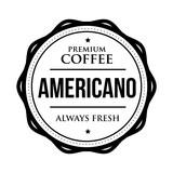 Coffee Americano vintage stamp