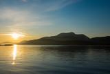 Sunrise over lake in Scotland