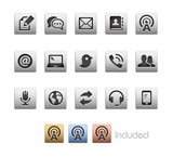 Communications Icons - The vector file includes 4 color versions for each icon in different layers.
