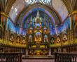 The spectacular architecture, design and details of Notre Dame Basilica in Montreal city, Quebec, Canada