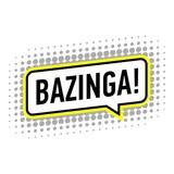 Bazinga icon, pop art style