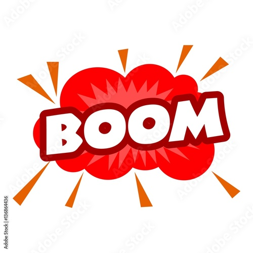 Boom icon, pop art style