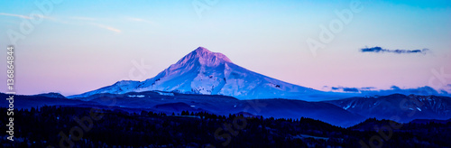 Mt Hood in the Fading Light Poster