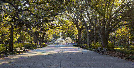 Forsyth Park fountain, Savannah GA