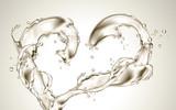 transparent liquid splash