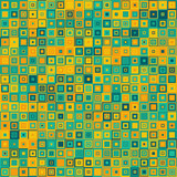 Seamless square mosaic pattern - vector illutration