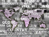 World Map Background Meaning International Oceans