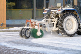 Snow removal tractor.