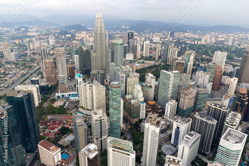 Poster Kuala Lumpur Cityscape Aerial View
