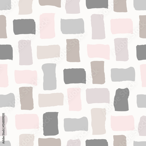 Cotton fabric Abstract Geometric Pattern