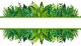 Illustration of a tropical rainforest banner - 136893036