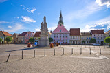 Town square of Rydzyna in Poland