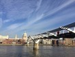 Millenium Bridge a Saint Paul, Londra, Uk
