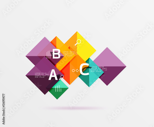 Geometric square and triangle template © antishock